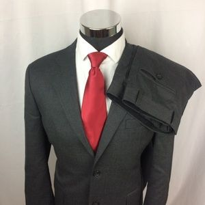 Other - Joseph & Feiss Mens 40R Suit Grey Wool 2But 34x31